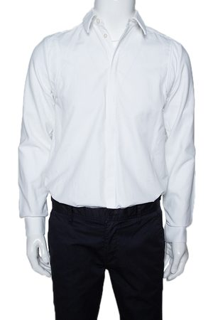 Givenchy White Cotton Patched Long Sleeve Shirt S