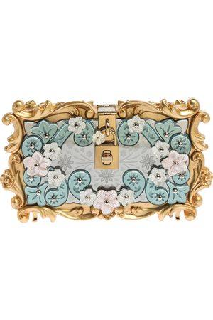 Dolce & Gabbana Multicolor Acrylic Mirrored Baroque Dolce Box Bag