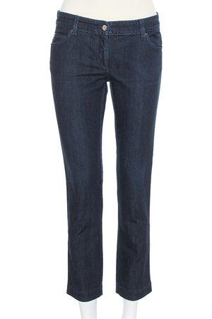 Fendi Navy Blue Denim Skinny Fit Selleria Serie Numerata Jeans M