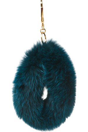 Chloé Chloé Peacock Blue Fox Fur Bag Charm