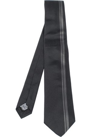 HUGO BOSS Black & Grey Vertical Stripe Silk Tie
