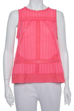Zadig & Voltaire Pink Cotton Sleeveless Tank Top S
