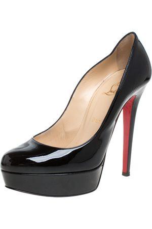 Christian Louboutin Women Pumps - Black Patent Leather Bianca Platform Pumps Size 38