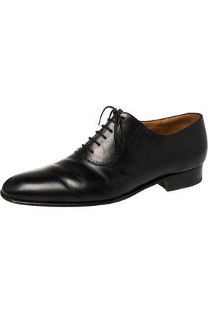 J.M.Weston Black Leather Lace Up Oxfords Size 43