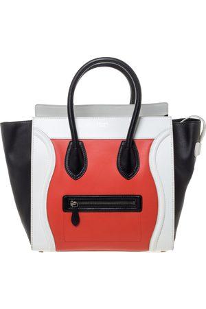 Céline Tri Color Leather Mini Luggage Tote
