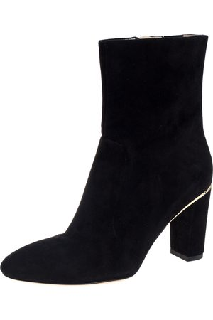 BRIAN ATWOOD Black Suede Zipper Detail Boots Size 42