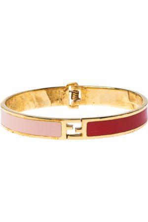 Fendi The sta Bicolor Enamel Gold Tone Bracelet M