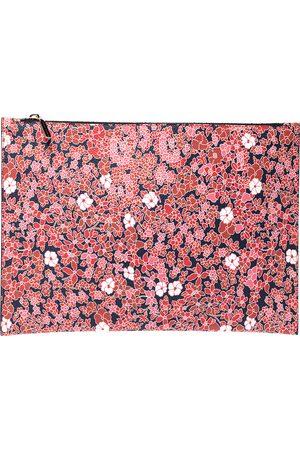 Victoria Beckham Multicolor Floral Print Large Simple Pouch