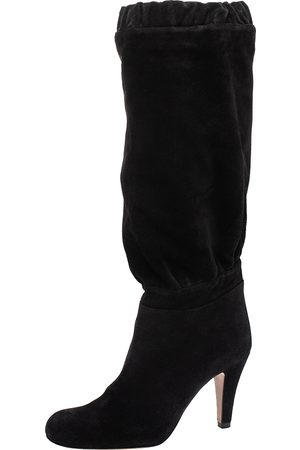 Chloé Black Suede Knee High Boots Size 37