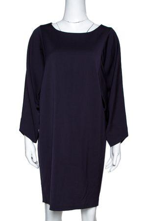 Emporio Armani Dark Purple Wool Blend Tunic Dress M