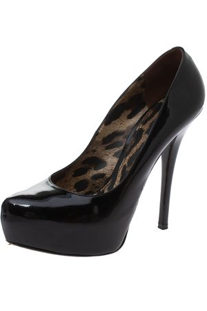 Dolce & Gabbana Dolce & Gabanna Black Patent Leather Platform Pumps Size 38
