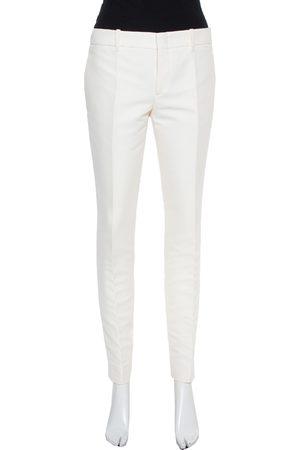 Gucci White Cotton Skinny Trousers M
