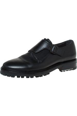 Lanvin Black Leather Monk Strap Oxford Size 40