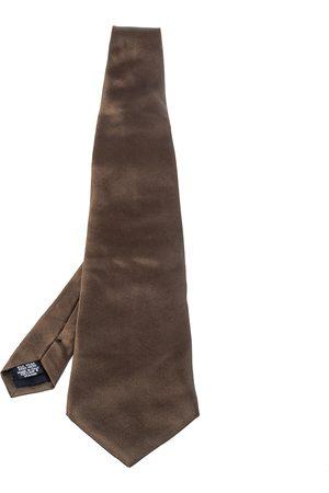 HUGO BOSS Brown Silk Tie