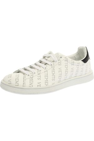 Vetements White Perforated Leather Low Top Sneakers Size 41