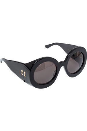 Gucci Black/ Grey GG0779S Oversized Round Acetate Sunglasses