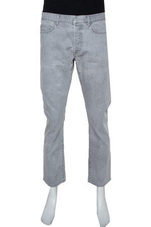 Dior Light Grey Denim Straight Leg Jeans M