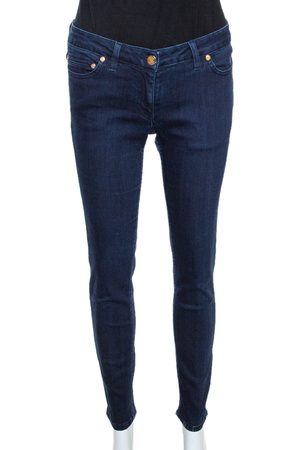 Roberto Cavalli Indigo Denim Tapered Fitted Jeans M