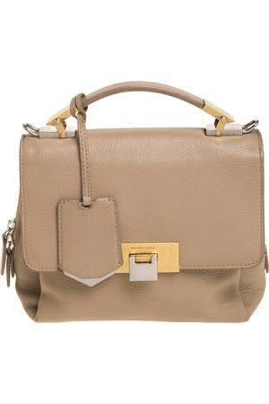 Balenciaga Beige Leather Le Dix Cartable Top Handle Bag