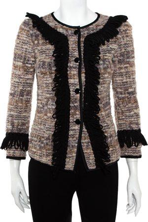Emporio Armani Multicolor Tweed Button Front Jacket S