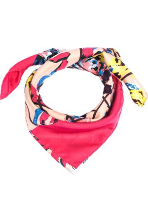 Dior Multicolor Floral Printed Silk Square Scarf