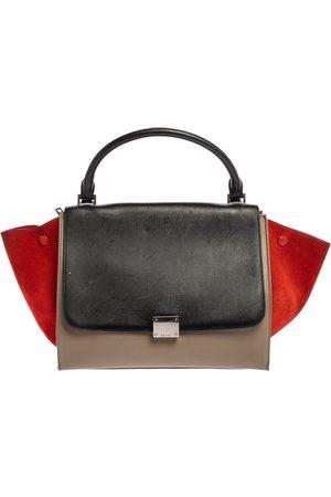 Céline Multicolor Leather and Suede Medium Trapeze Bag