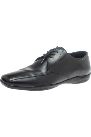 Prada S Black Leather Lace Up Derby Size 41.5