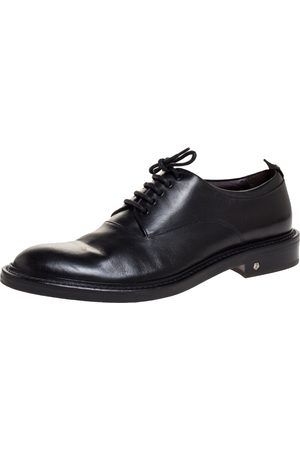 Z Zegna Black Leather Lace Up Derby Size 42.5