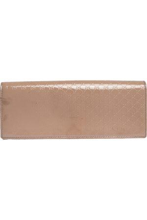 Gucci Beige Nice Microssima Leather Broadway Clutch