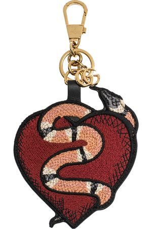 Gucci Red/Peace GG Supreme Canvas and Fabric Snake Bag Charm
