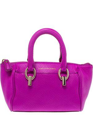 Diane von Furstenberg Purple Grained Leather Mini Sutra Shoulder Bag