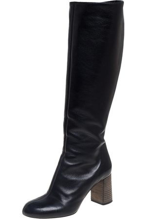 Chloé Black Leather Knee High Boots Size 35
