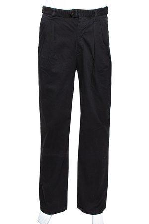 RAF SIMONS RAF by Black Denim Pleated Wide Leg Trousers S