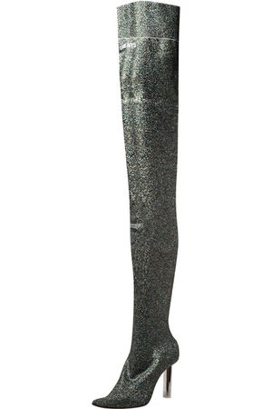 Vetements Multicolor Lurex Knit Thigh High Sock Boots Size 36