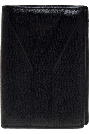 Saint Laurent Saint Laurent Black Leather Bifold Wallet