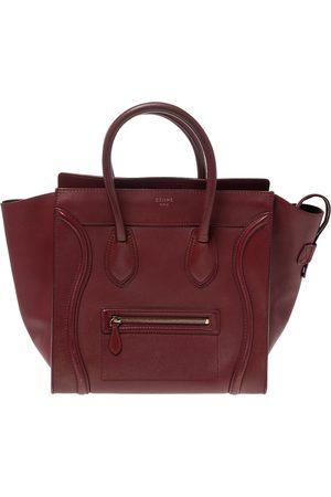 Céline Red Leather Mini Luggage Tote