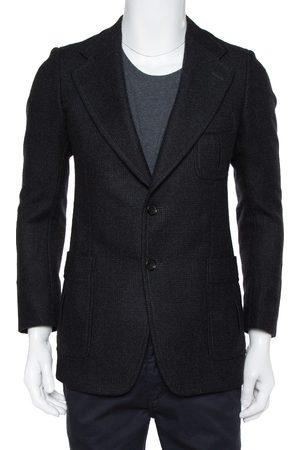 Gucci Black Wool Button Front Blazer M
