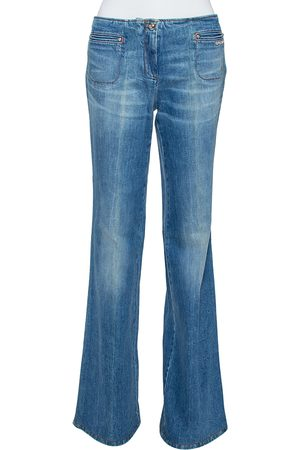 Roberto Cavalli Indigo Light Wash Denim High Waist Jeans M