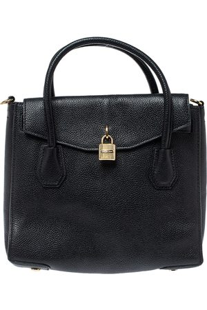Michael Kors Black Leather Large Mercer All In One Tote