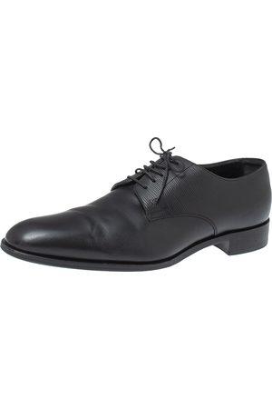 LOUIS VUITTON Black Leather Lace Up Oxford Size 43.5