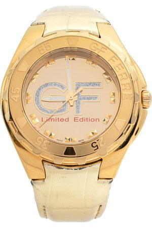 Gianfranco Ferré Gold Tone Stainless Steel 9040J Limited Edition Women's Wristwatch 46 MM