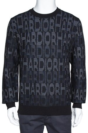 Dior Homme Black Har Patterned Jacquard Wool Blend Pullover L