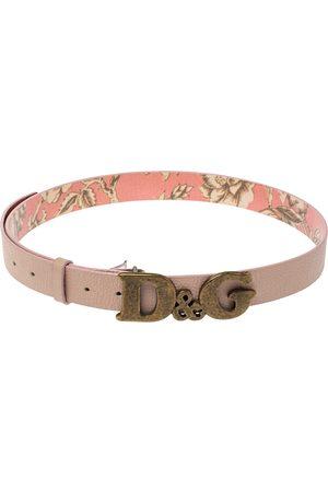 Dolce & Gabbana Pink Leather D&G Logo Belt 90CM