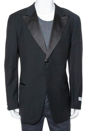 Armani Black Wool Button Front Tailored Blazer 3XL