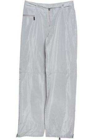 Emporio Armani Grey Coated High Waist Pants M