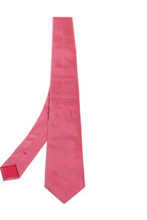 HUGO BOSS Red Micro Dot Silk Tie