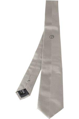 Armani Grey Micro Rib Silk Tie