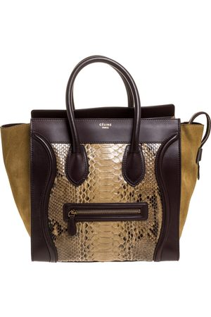 Céline Multicolor Python,Suede and Leather Mini Luggage Tote