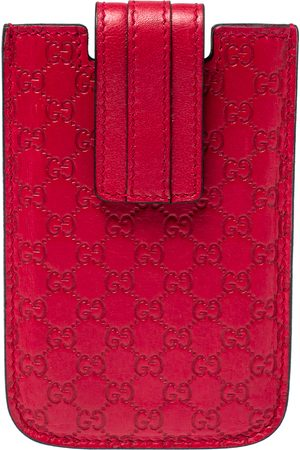 Gucci Red Leather Microssima iPhone 3&4 Case