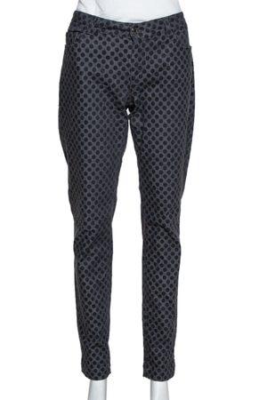 Dolce & Gabbana Grey Polka Dot Denim Skinny Jeans L